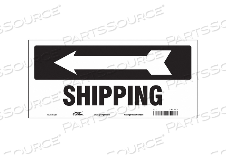 SAFETY SIGN 14 W 6-1/2 H 0.004 THICK by Condor