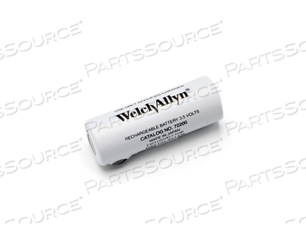 BATTERY RECHARGEABLE, CYLINDRICAL, NICKEL CADMIUM, 3.5 V, 0.75 AH