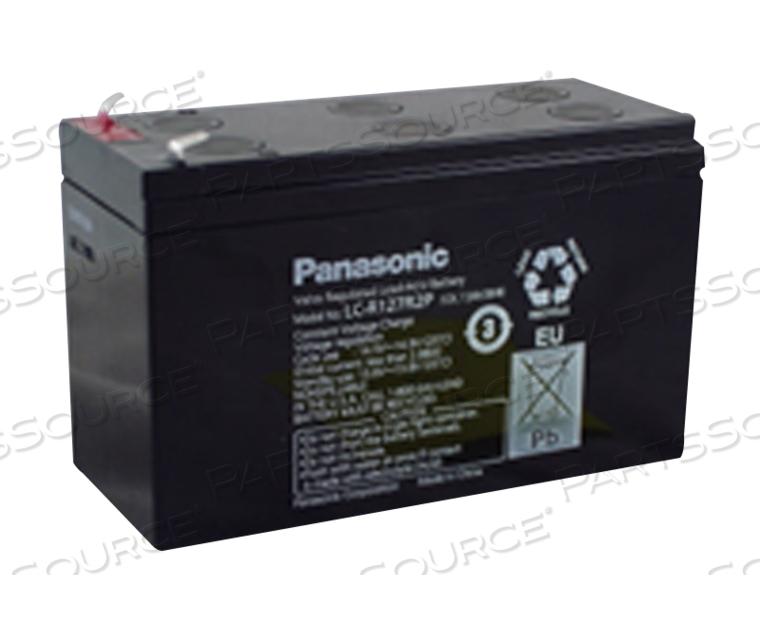 BATTERY, SEALED LEAD ACID, 12V, 7.2 AH, FASTON (F1) by Panasonic / Matsushita Electric Industrial Co, Ltd