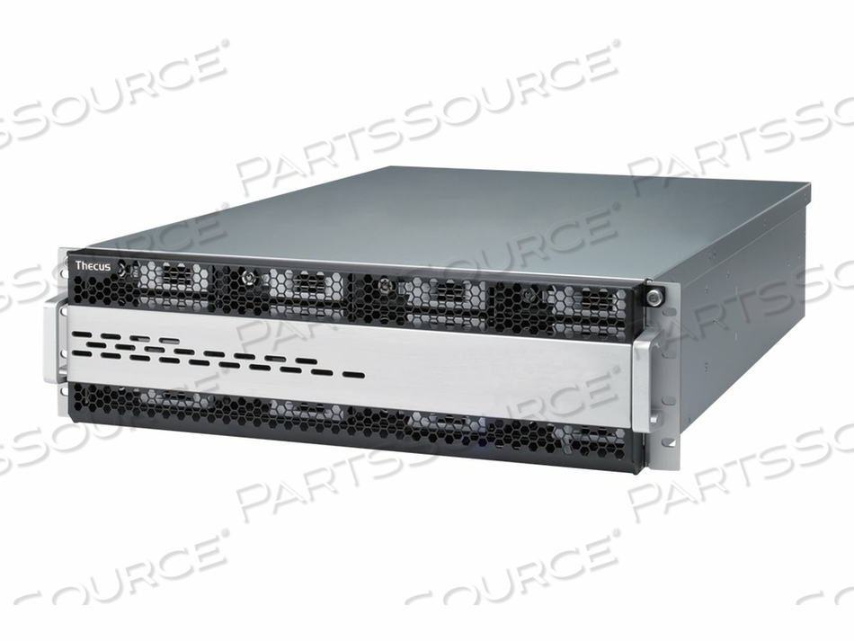 THECUS TECHNOLOGY W16000 - NAS SERVER - 16 BAYS - RACK-MOUNTABLE - SATA 6GB/S / SAS 6GB/S - HDD - RAM 8 GB - GIGABIT ETHERNET - 3U