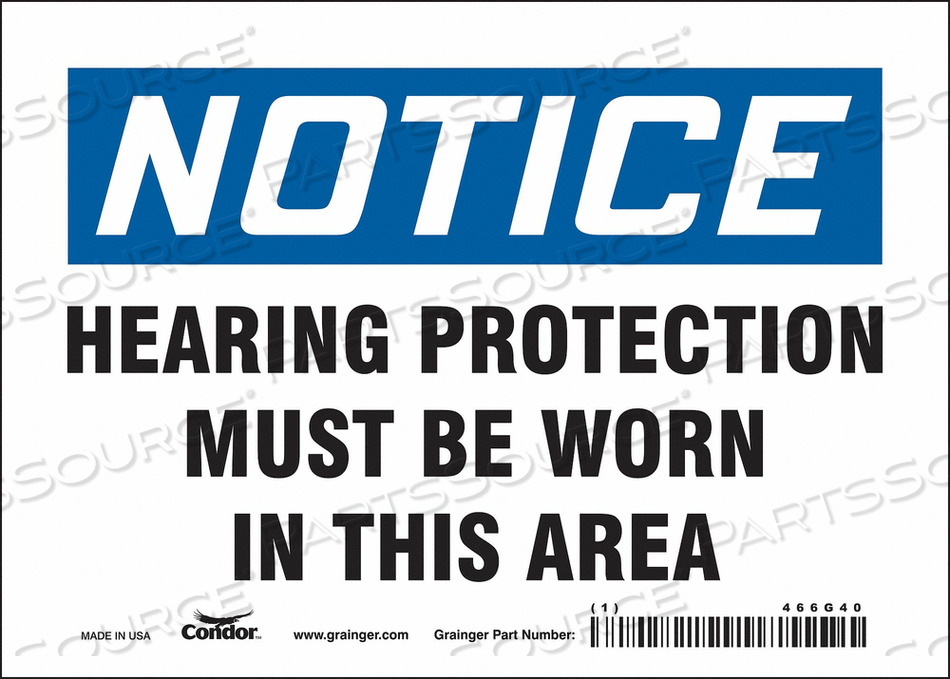 J6996 SAFETY SIGN 7 W 5 H 0.004 THICKNESS by Condor