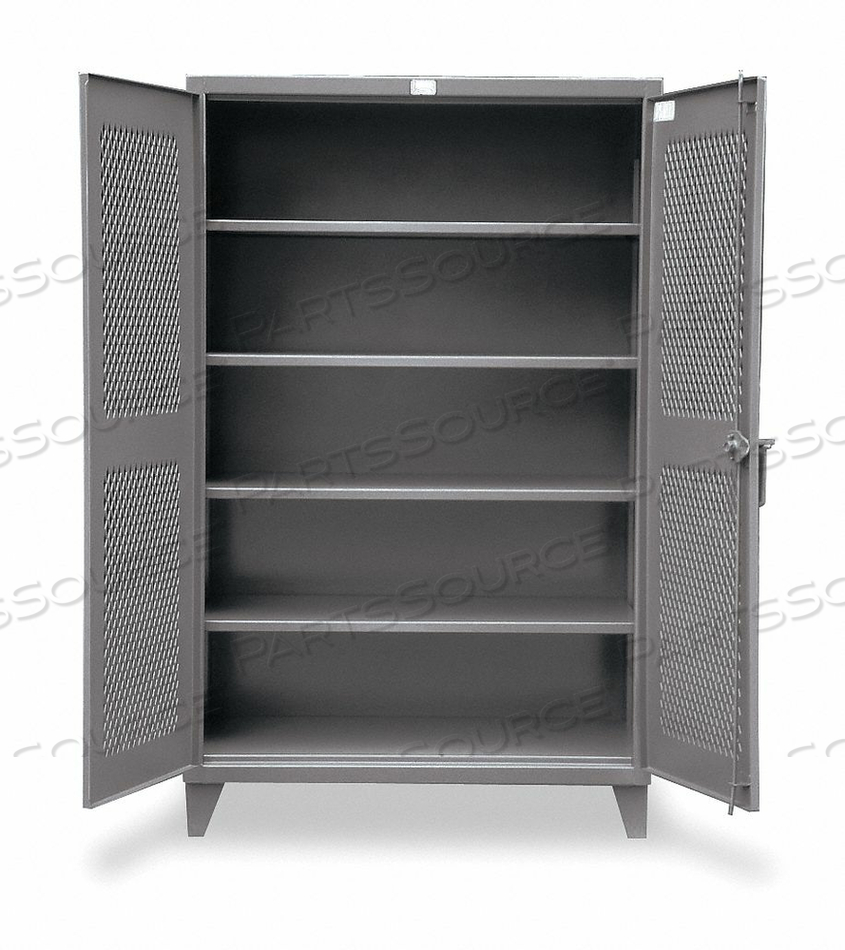 SHELVING CABINET 78 H 48 W DARK GRAY by Strong Hold