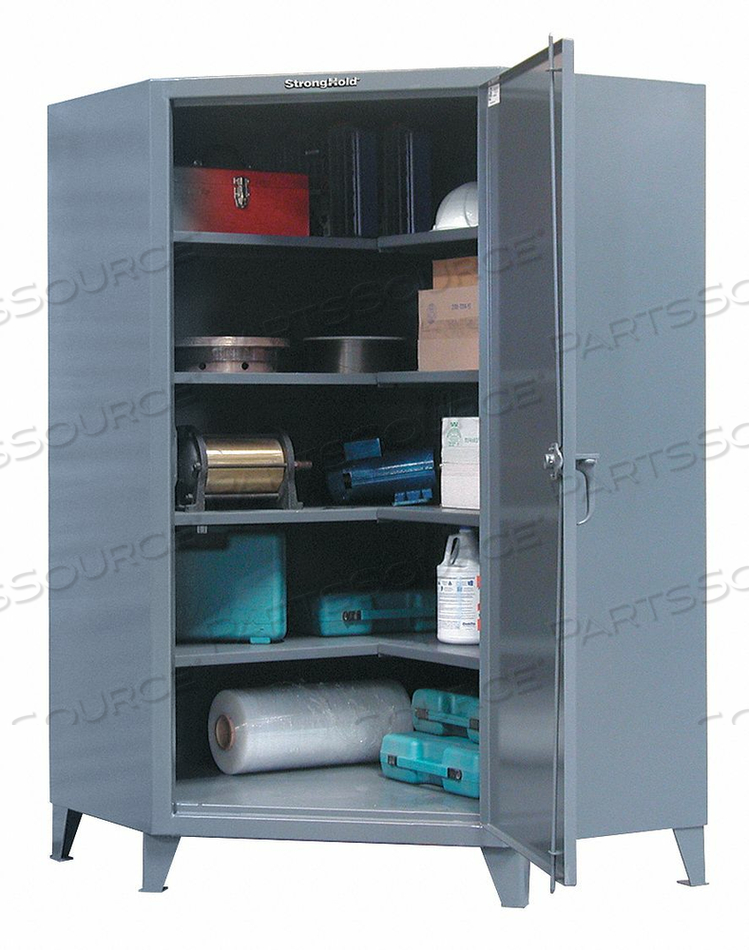 SHELVING CORNER CAB 78 H 48 W DARK GRAY by Strong Hold