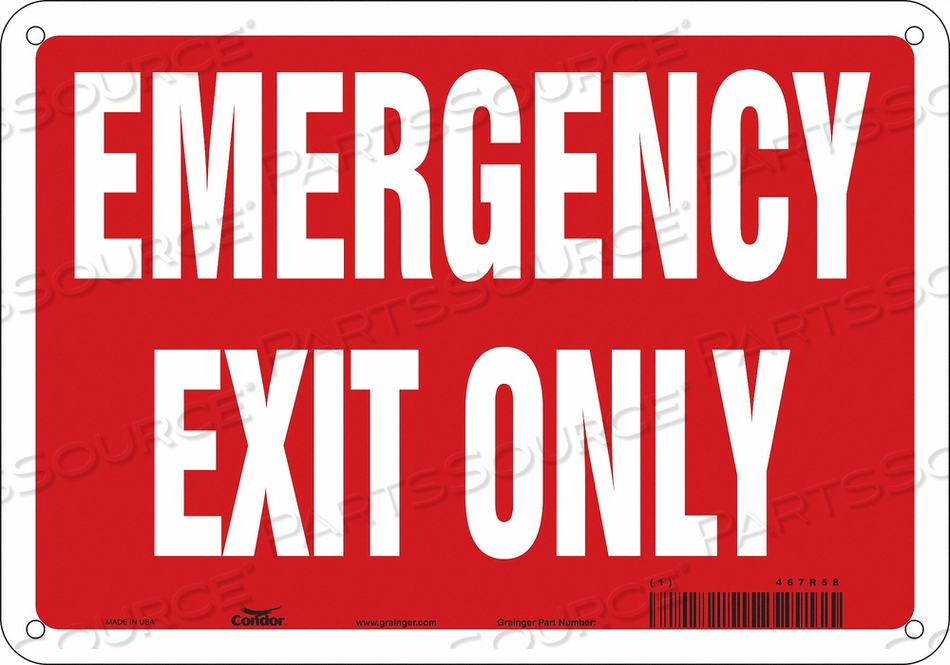 J7039 SAFETY SIGN 7 X10 PLASTIC by Condor