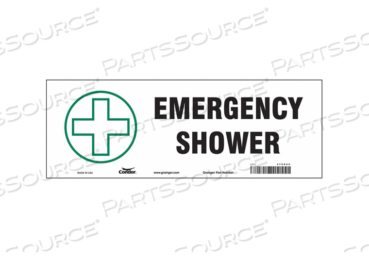 SAFETY SIGN 14 W X 5 H 0.004 THICK by Condor
