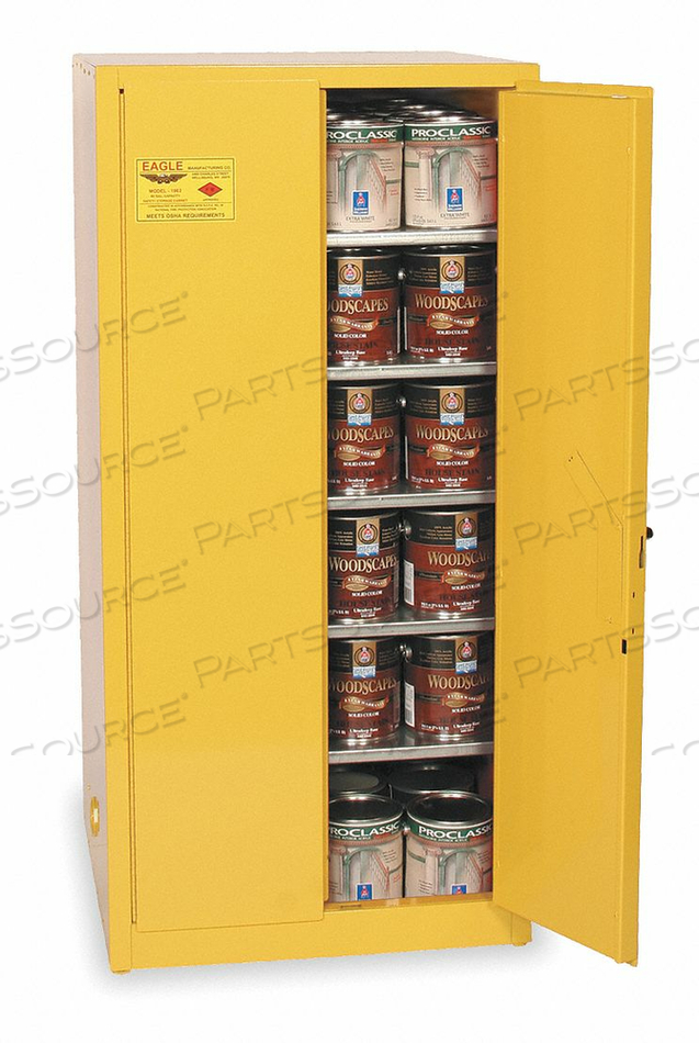 PAINTS AND INKS CABINET 96 GAL. YELLOW by Eagle