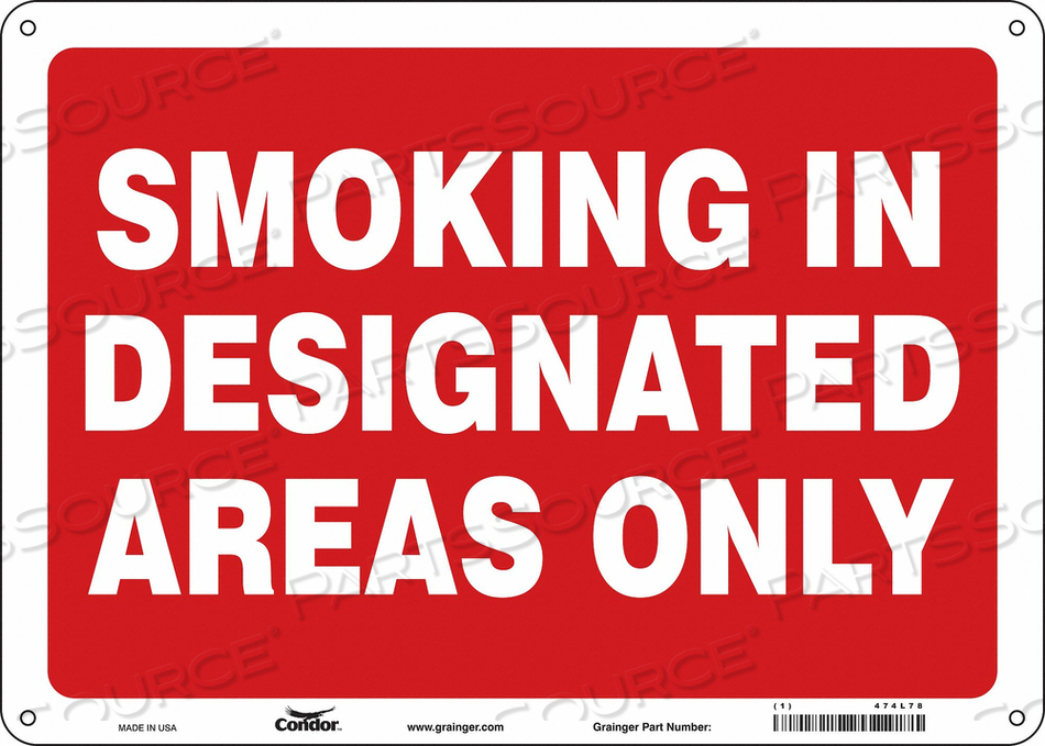 J7032 SAFETY SIGN 14 W 10 H 0.055 THICKNESS by Condor