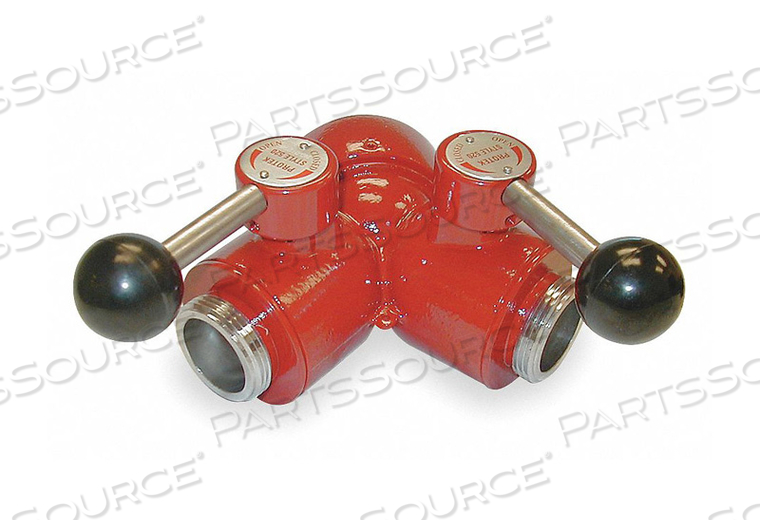 WYE BALL VALVE 1-1/2 F NH (2) 1 IN MNST by Moon American