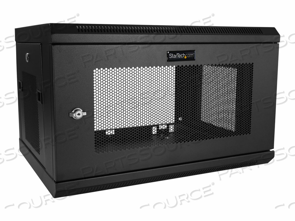 STARTECH.COM 6U WALL-MOUNT SERVER RACK CABINET - UP TO 16.9 IN. DEEP - RACK ENCLOSURE CABINET - WALL MOUNTABLE - BLACK - 6U by StarTech.com Ltd.