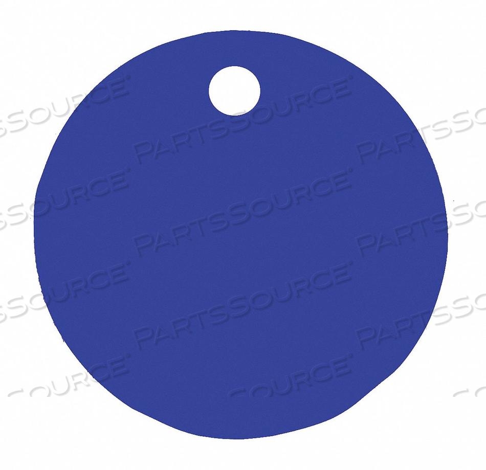 BLANK TAG ROUND BLUE PK5 by C.H. Hanson