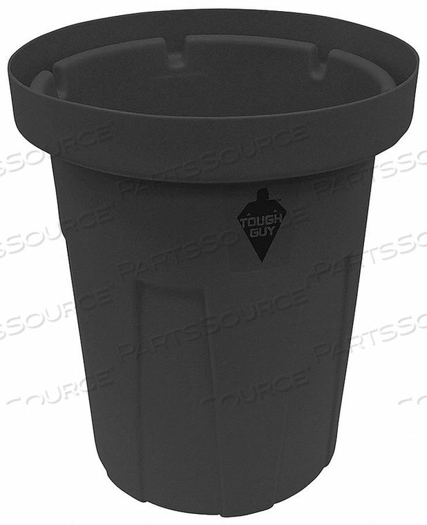 TRASH CAN 50 GAL. BLACK by Tough Guy