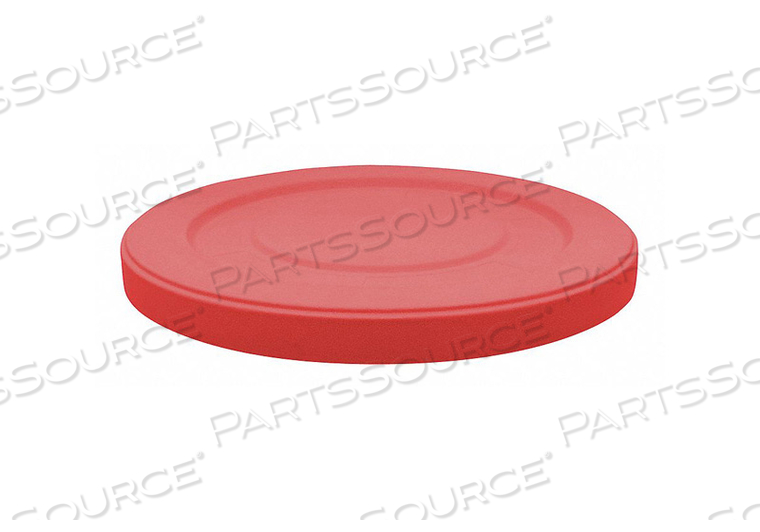 TRASH CAN TOP FLAT SNAP-ON CLOSURE RED by Tough Guy