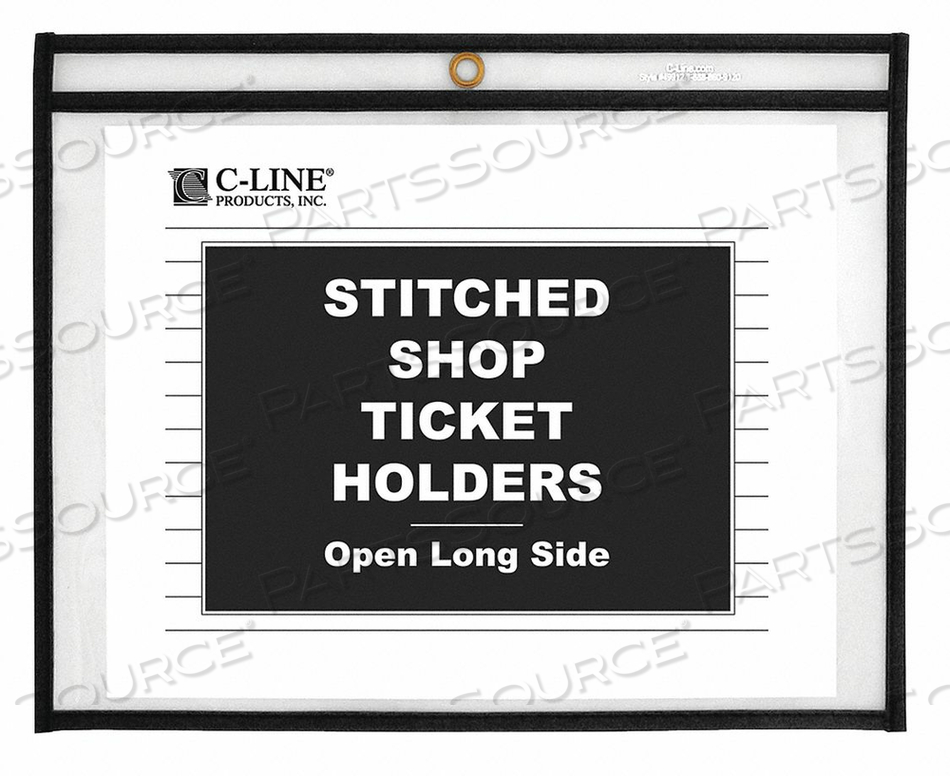 HOLDER OPEN SIDE 8.5X11 CLEAR PK25 by C-Line