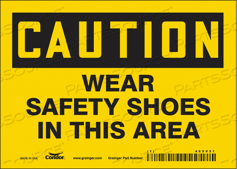J6975 SAFETY SIGN PERSONAL PROTECTION 5 H by Condor