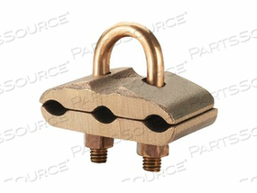 PANDUIT STRUCTURED GROUND MECHANICAL CONNECTORS BRONZE GROUNDING CLAMP, U-BOLT, FOR THREE CABLES - GROUNDING CLAMP KIT - 3 IN by Panduit