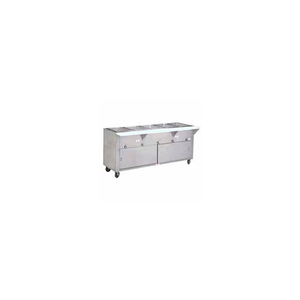 """HOT FOOD TABLE, ELECTRIC, 31.812""""L (2) 12"""" X 20"""" WELLS W/SLIDING DOORS,120V by Advance Tabco"""