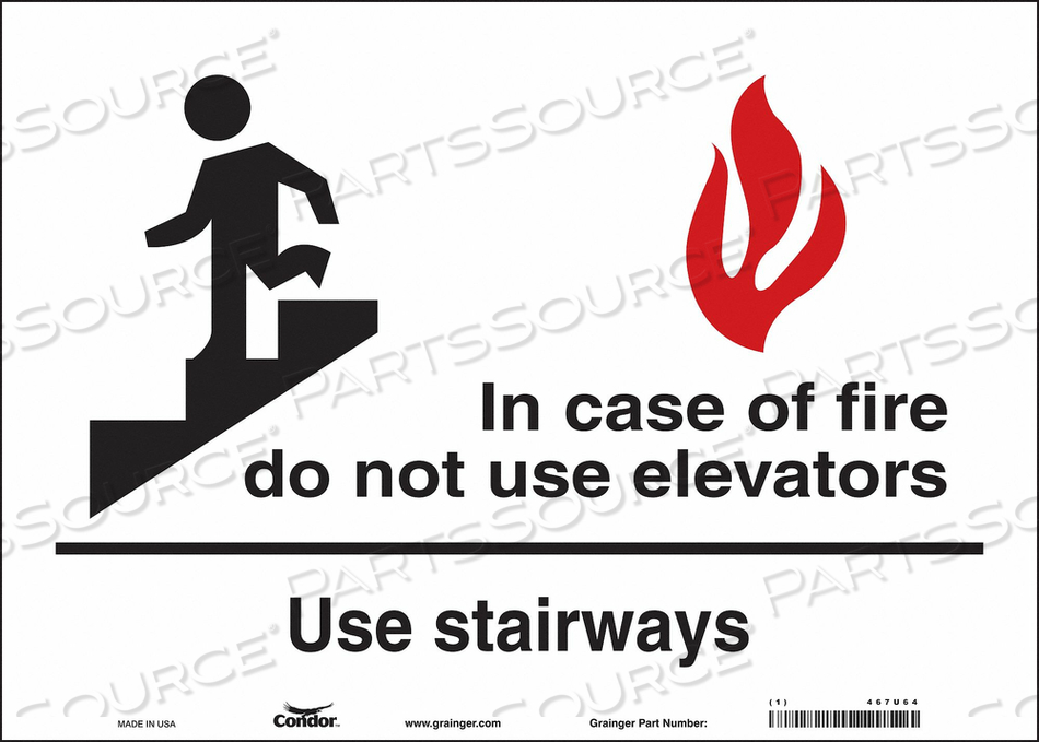J7009 SAFETY SIGN 10 X14 VINYL by Condor
