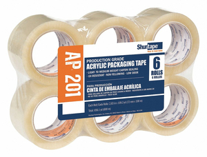 PACKAGING TAPE 72MM W 100M L PK6 by Shurtape