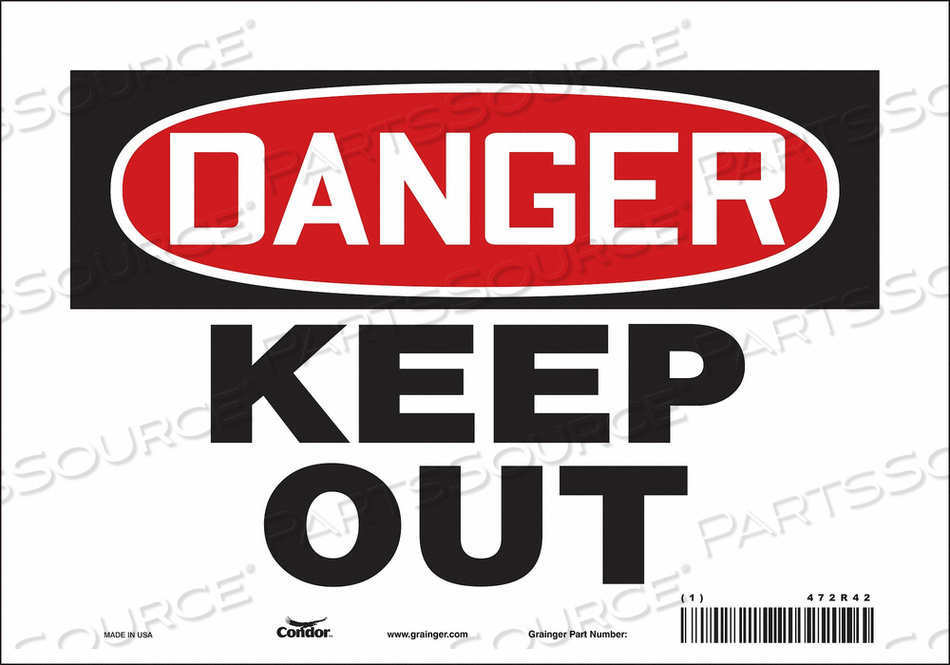 J6935 SAFETY SIGN 10 W 7 H 0.004 THICKNESS by Condor
