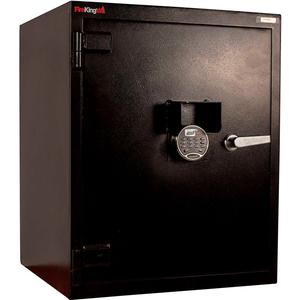 "BURGLAR SAFE 24""W X 22-5/8""D X 30-1/2""H ELECTRONIC LOCK 8.23 CU. FT. BLACK by Fire King"