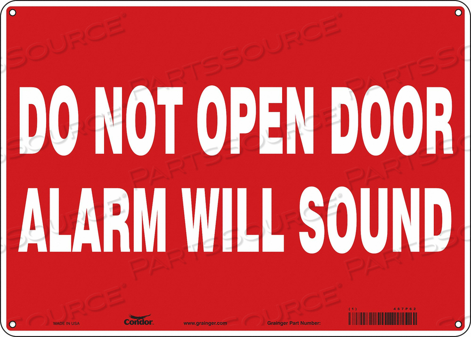 SAFETY SIGN 10 X14 PLASTIC by Condor