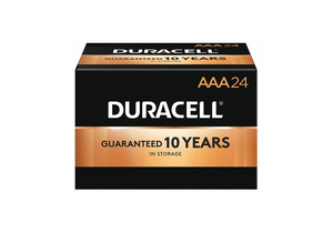 BATTERY, AAA, ALKALINE, 1.5V, 1200 MAH (PACK OF 24) by Duracell
