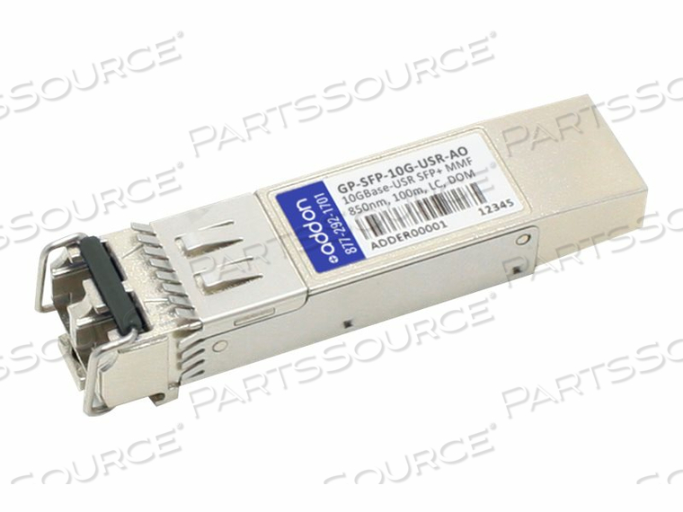 ADDON - SFP+ TRANSCEIVER MODULE - 10 GIGE - 10GBASE-USR - LC MULTI-MODE - UP TO 328 FT - 850 NM