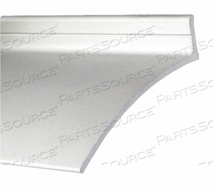 DOOR DRIP EDGE CLEAR ANODIZED 100 IN L by Pemko