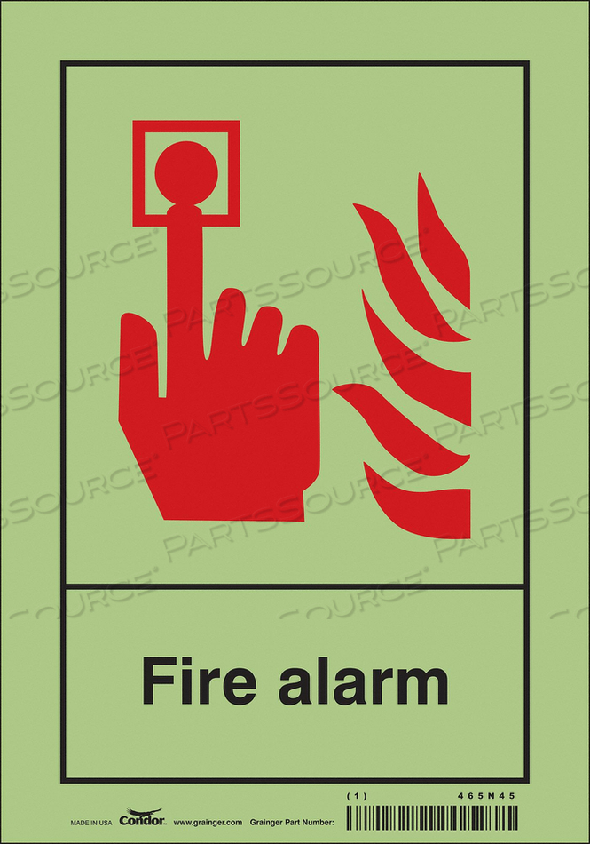 SAFETY SIGN 7 WX10 H 0.070 THICKNESS by Condor