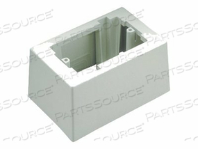 PAN-WAY LOW VOLTAGE SURFACE MOUNT OUTLET BOX - SURFACE MOUNT BOX - OFFICE WHITE by Panduit