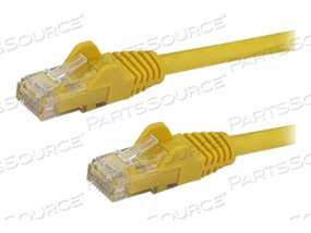 STARTECH.COM 30 FT YELLOW CAT6 / CAT 6 SNAGLESS ETHERNET PATCH CABLE 30FT - PATCH CABLE - RJ-45 (M) TO RJ-45 (M) - 30 FT - UTP - CAT 6 - MOLDED, SNAGLESS - YELLOW by StarTech.com Ltd.