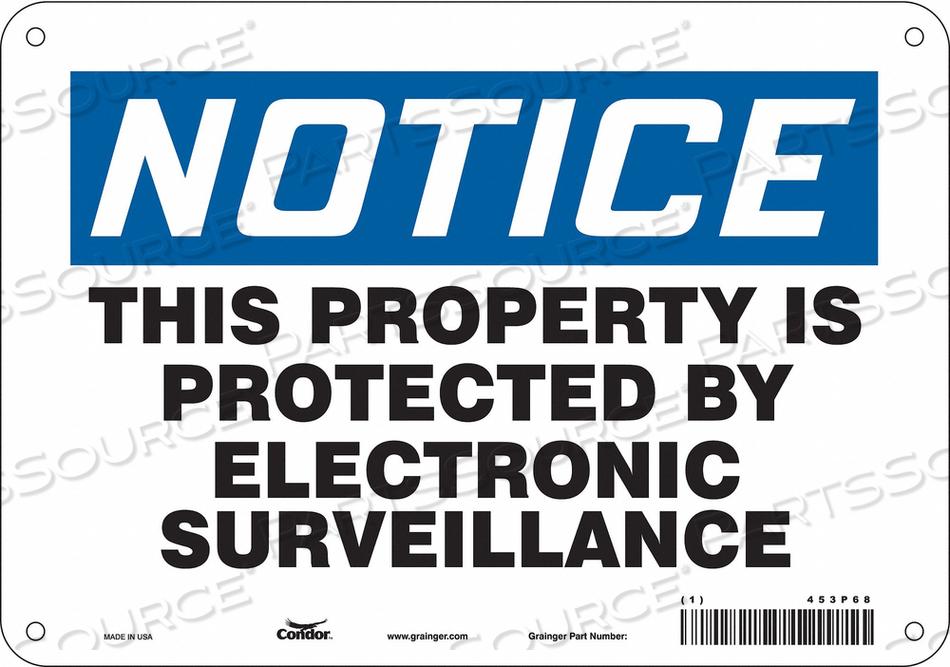 SECURITY SIGN 7 H 10 W FIBERGLASS by Condor