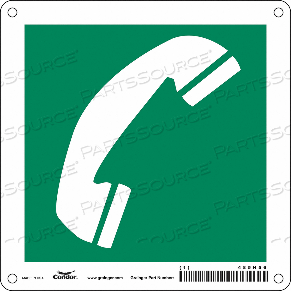 SAFETY SIGN 6 WX6 H 0.010 THICK by Condor