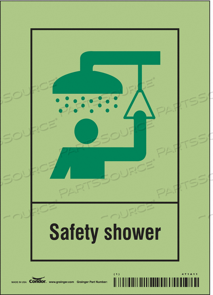 SAFETY SIGN 5 W X 7 H 0.010 THICK by Condor