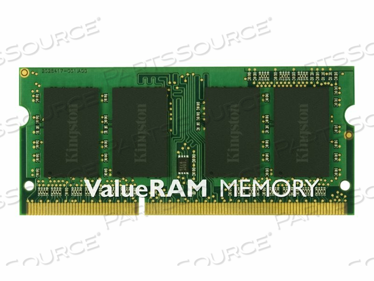 KINGSTON VALUERAM - DDR3 - 2 GB - SO-DIMM 204-PIN - 1600 MHZ / PC3-12800 - CL11 - 1.5 V - UNBUFFERED - NON-ECC by Kingston Technology