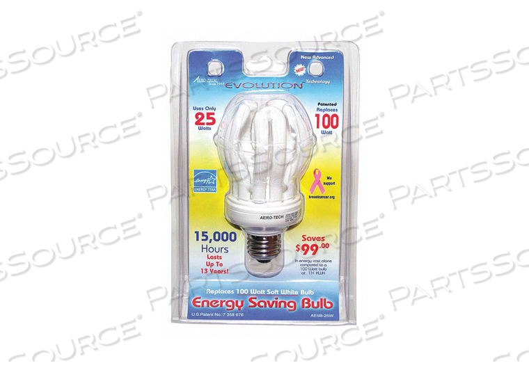 SCREW-IN CFL 25W MEDIUM by Aero-Tech