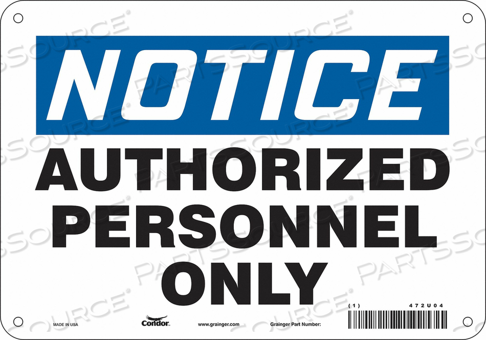 J6992 SAFETY SIGN 10 W 7 H 0.055 THICKNESS by Condor