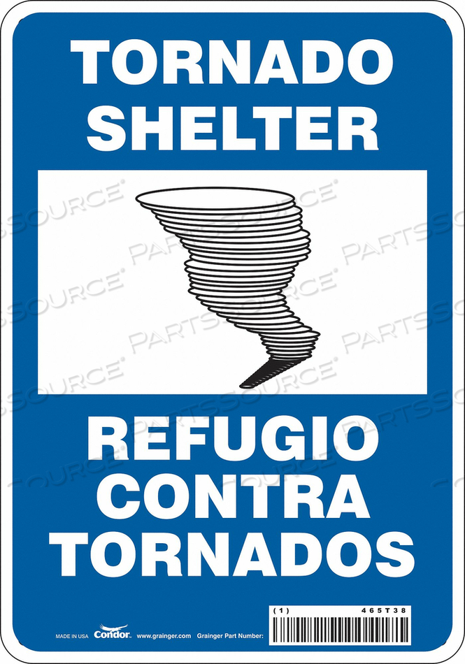SAFETY SIGN 7 WX10 H 0.032 THICKNESS by Condor