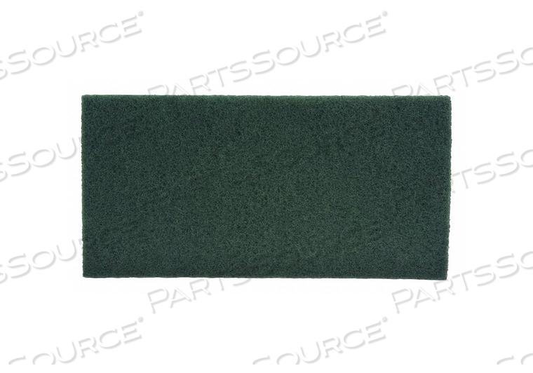 SCRUBBING PAD GREEN SIZE 20 X 14 PK10 by Tough Guy