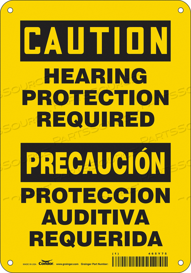 K2003 SAFETY SIGN 7 W 10 H 0.055 THICKNESS by Condor