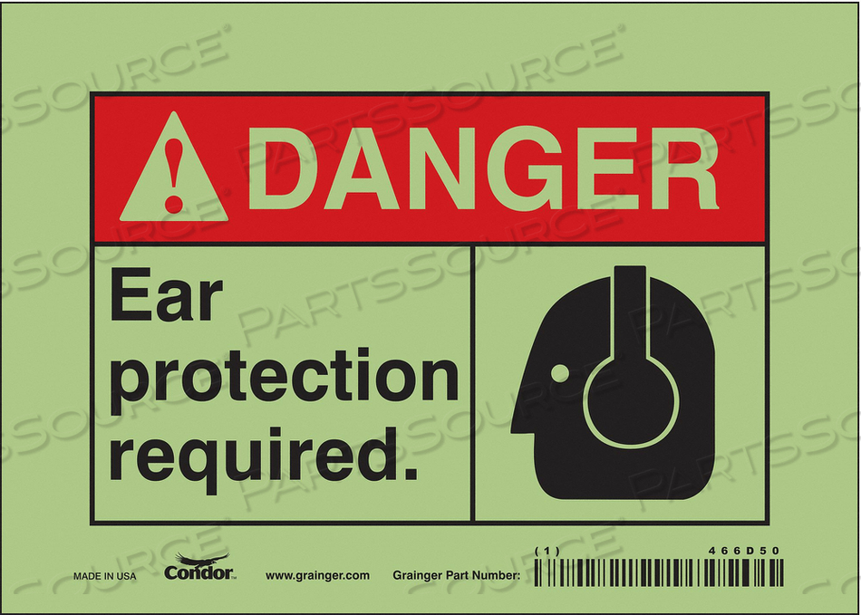 SAFETY SIGN 7 W 5 H 0.010 THICKNESS by Condor