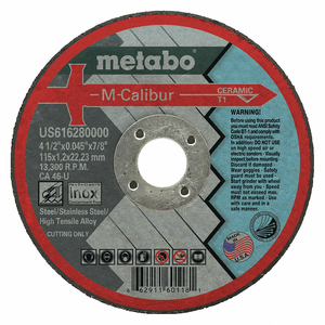 CUT-OFF WHEEL CERAMIC 4-1/2 DIA. TYPE 1 by Metabo