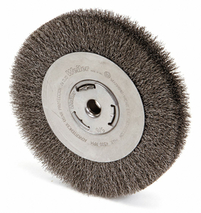 CRIMPED WIRE WHEEL BRUSH ARBOR 8 IN. by Weiler
