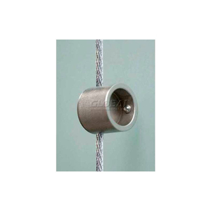 SUPPORT SINGLE FOR 3MM CABLES, SATIN CHROME by Nova Display, Inc