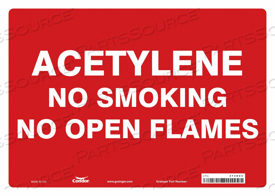 NO SMOKING SIGN 14 WX10 H 0.004 THICK by Condor