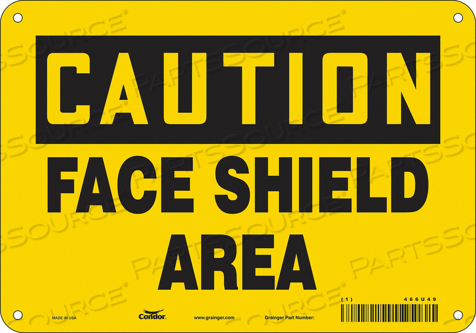 K2002 SAFETY SIGN 10 W 7 H 0.060 THICKNESS by Condor