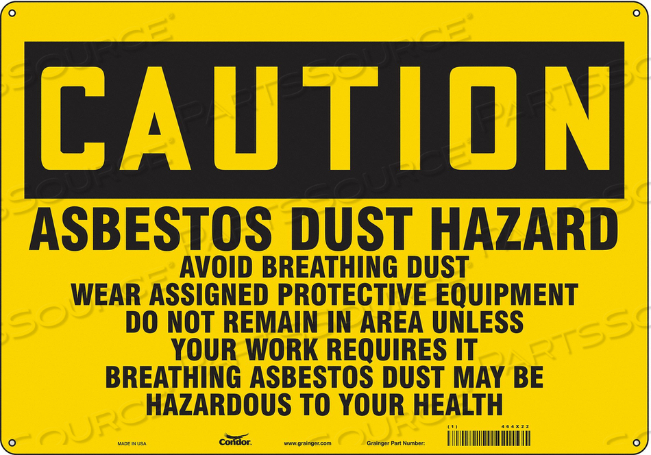 SAFETY SIGN 20 W 14 H 0.060 THICKNESS by Condor