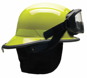FIRE HELMET LIME-YELLOW THERMOPLASTIC by Bullard