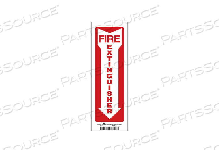 SAFETY SIGN 4 W 12 H 0.004 THICKNESS by Condor