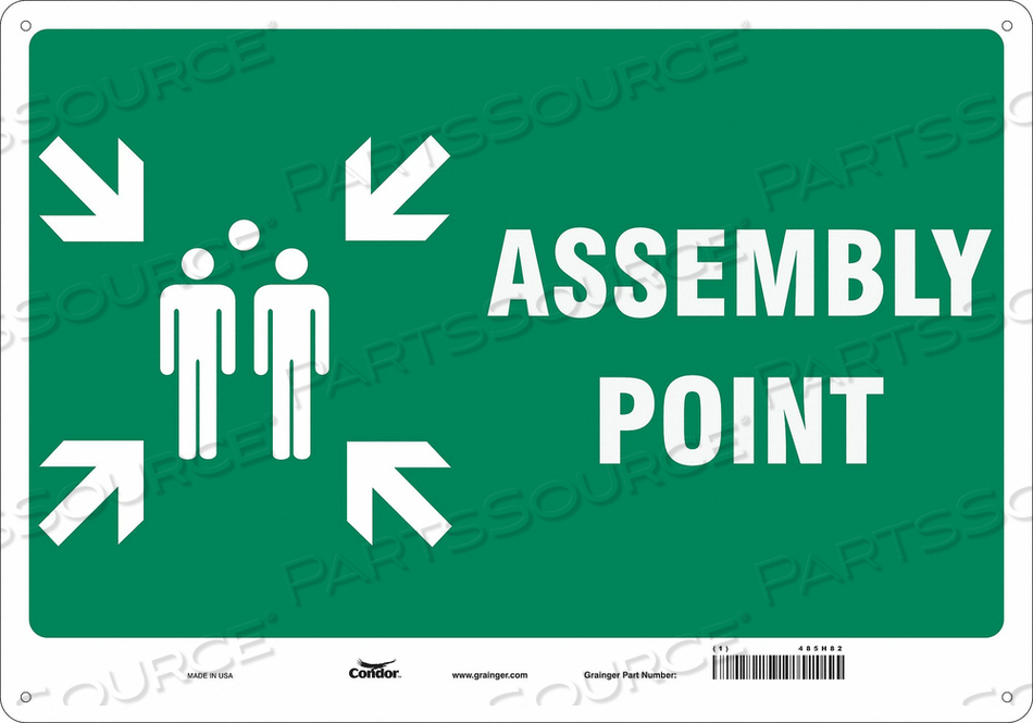 SAFETY SIGN 20 WX14 H 0.055 THICK by Condor